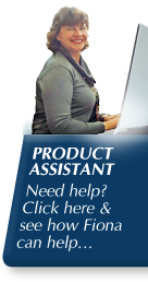 Product Assistant : Need help? Click here & see how Fiona can help...